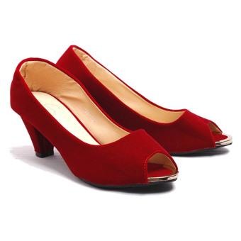 Giày Cao Gót Hở Mũi Soyoung Cg 018 (Đỏ)
