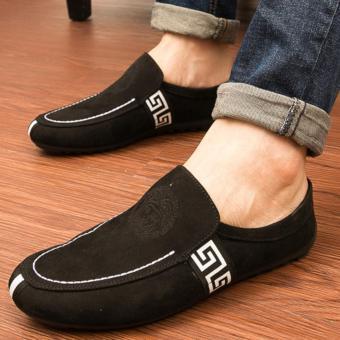 Giày lười da lộn thời trang nam - DL01 ( đen )