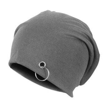 Soft Thin Women Men Unisex Double Deck Cotton Lycra Blend Beanie Hats - Intl
