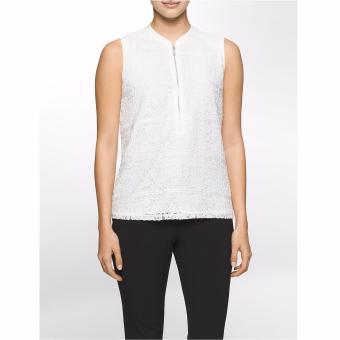 Áo ren nữ Calvin Klein dây kéo kim loại - Hàng nhập khẩu.