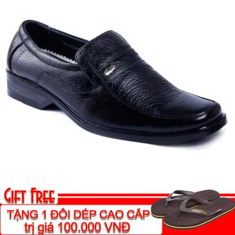 Giày tây công sở da thật Da Giày Việt Nam VNLLC3AZ87-1 + Tặng 1 đôi dép