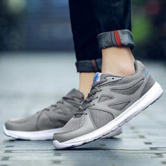 Jarma man's net breathable sneaker fashion new style walking shoes (Grey) - intl