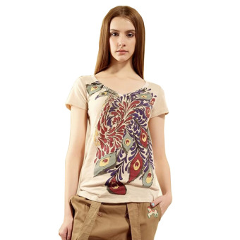Gamiss Woman Printing Casual T-Shirt (Apricot)--TC - intl