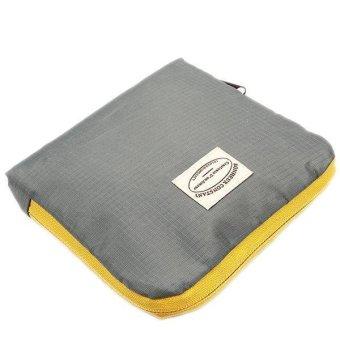 LALANG Reusable Storage Bag Folding Shoulder Pouch Handbag (Grey) - intl