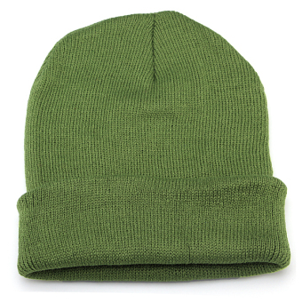 Unisex Knitted Plain Beanie Hiphop Cap Skull Cuff Winter Hat Crochet Solid Color green - Intl - Intl