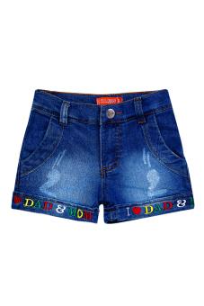 Quần short jean bé gái V.T.A.Kids BG50526 (Xanh)