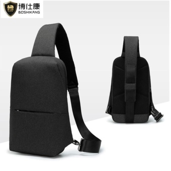 BOSHIKANG Brand Waterproof Oxford Chest Bag Fashion Crossbody Bag Casual Chest Pack (Black) - intl
