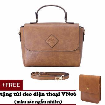 Túi đeo chéo nữ đa năng LATA HN35 (Bò nhạt )+ Tặng ví vn06