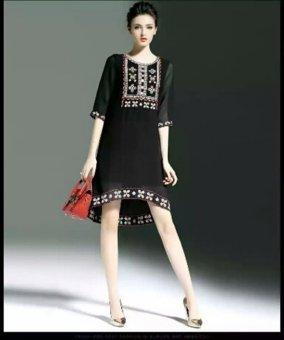 Đầm Suông Thêu Họa Tiết - HR909