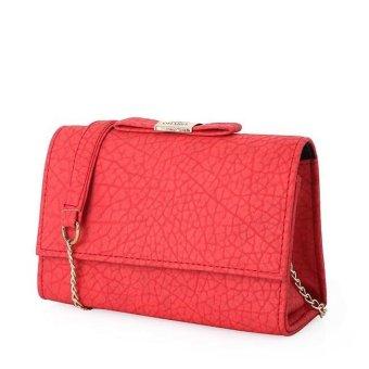 Túi đeo chéo nữ đính nơ TDC6969-27-8B (Đỏ)