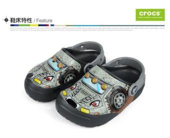 Giày lười bé trai CrocsFunLab Lights MnstTrk/Gpt 204133-942 (Xám)