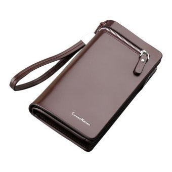 Bifold Wallet Men Women Leather Credit/ID Card Holder Billfold Purse Wallet - intl