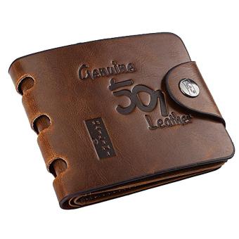 Men's Fashion Vintage Short Style PU Leather Wallet Transverse Rectangular Billfold