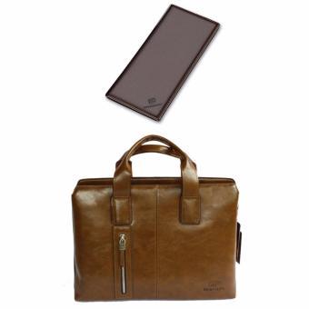Bộ cặp xách và ví da công sở thời trang DT2046