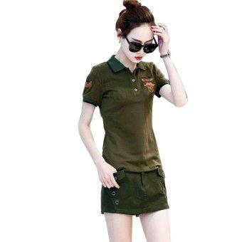 Quần short giả Váy Xanh lính - QSN2