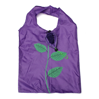 HOT Rose Flower Reusable Storage Folding Shopping Bag Travel Grocery Bags Tote - Intl