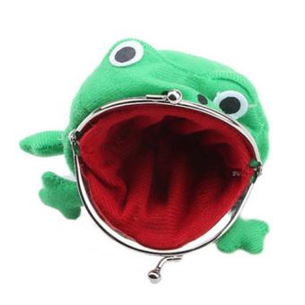 Frog Fluff Coin Purse Wallet Cartoon Green Cute - intl