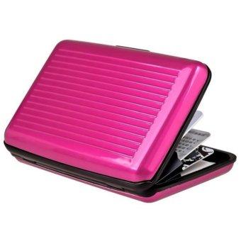Moonar ID Credit Card Case Antimagnetic Waterproof Aluminum Card Holder (Rose) - intl