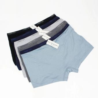 Bộ 5 Quần lót nam dạng quần đùi xuất Nhật chất cotton (size L)