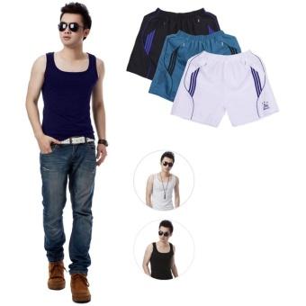 Bộ 3 áo thun ba lỗ nam + Bộ 3 Quần Short Sooc Thể Thao Nam