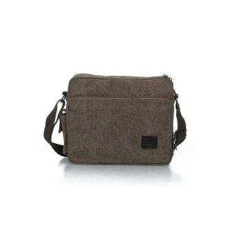 HKS New Mens Coffee Canvas Shoulder Satchel Bag Handbag Fashion - intl