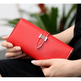 Ví cầm tay nữ trẻ trung Hàn Quốc(Đỏ)(18.5x8.8cm)