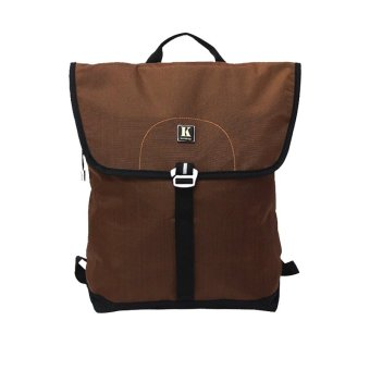 Ba lô Laptop Kimta LEO PLE0114BR-BL (Nâu đậm viền đen)