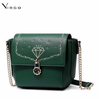 Túi xách đeo chéo thời trang mùa hè màu xanh lá đậm VG262