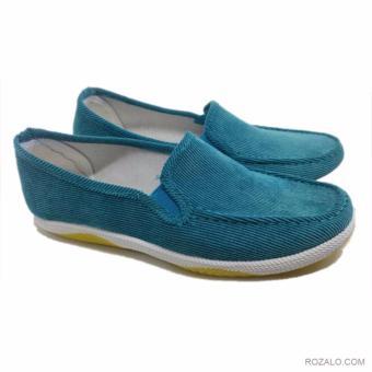 Giày lười vải nữ Rozalo RWG2011X-Xanh