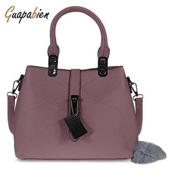 Guapabien Elegant Pom Pom Embellished PU Women Convertible Tote Bag - intl