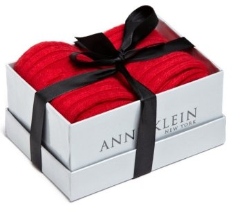 Hộp quà bộ 2 tất len nữ Anne Klein Women's 2-Pack Cable and Solid Cashmere Gift Set Socks (Mỹ)