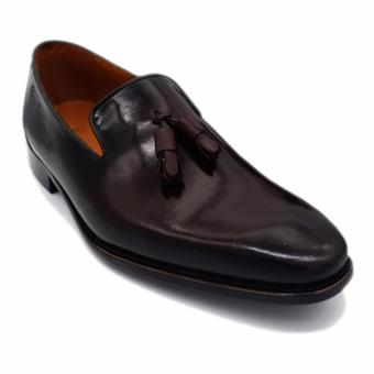 Giày da pierre cardin Patina Slip-on Tassel LB053-BLACK
