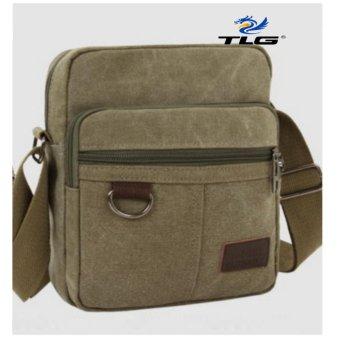 Túi đeo chéo canvas phối da Thành Long TL8109-1(xanh lá)