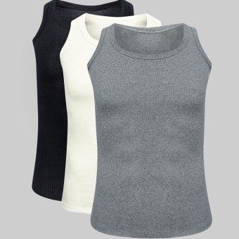 Bộ 3 áo thun ba lỗ nam Navi (Đen trắng xám)