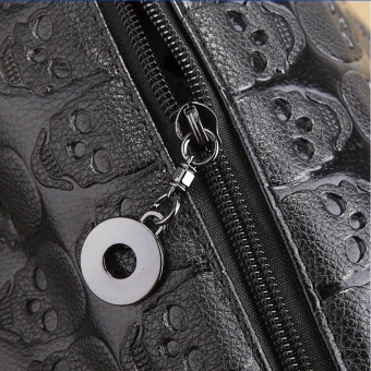 Women Skull Skeleton Chain Hangbag Lady Tote Shoulder Bucket Bag - intl