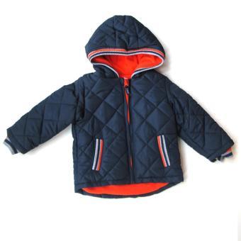 Áo khoác lạnh tay dài có mũ cho bé Luvable Friends(Xanh)