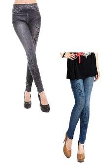 Bộ 2 quần legging Huy Kiệt HK100 (Đen và Xanh Đen)