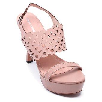 Giày đúp cao gót nữ cut-out, gót cong LADA UNIQUE PS10 (Hồng)