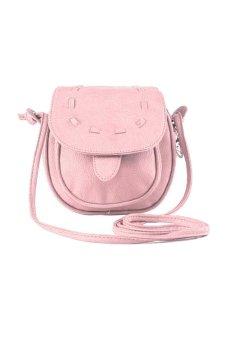 PU Leather Small Adjustable Shoulder Bag (Pink)
