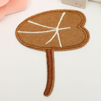 Frog Lotus Leaf Snail Cloud Iron On Sew Patch Cute Applique Badge Embroi Lotus leaf - intl