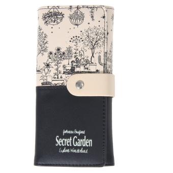 2016 secret garden PU wallet women purse(black) (Intl)