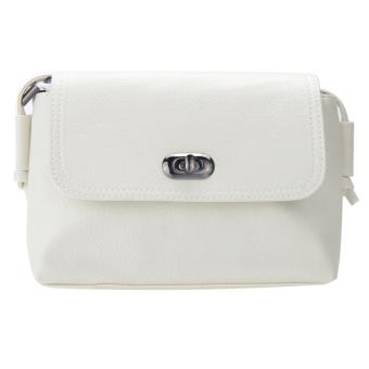 Woman PU Leather Leisure Cross Body Bag (White) - Intl