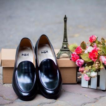Giày da nam Kazin màu đen KZD0028