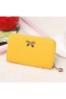 Solid Wearable Short Wallet (Yellow) - intl
