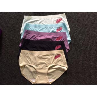 Bộ 5 quần lót nữ in môi cao cấp (free size)