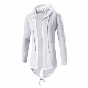 Men's Cardigan Hooded Long Cloak Cape Coat Loose Jacket - intl