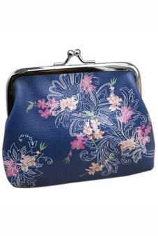 Bluelans Women Flower Wallet Card Holder Case Coin Purse Clutch Handbag Bag (Intl)