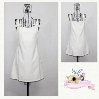 Váy yếm 2 dây - Trắng- rainshop