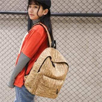 Fashion Unisex Casual Travel Satchel Shoulder Backpack KH - intl