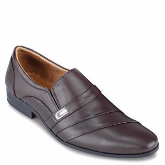 Giày Tây Nam Da Bò SunPoLo KS113N (Nâu nhạt)